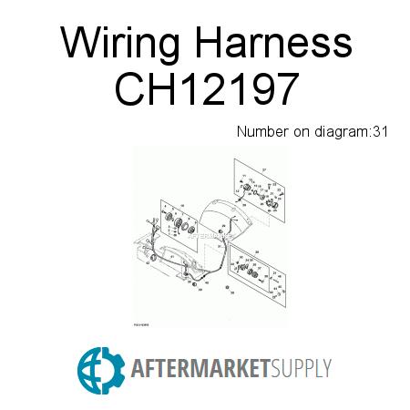 ch12197 wiring harness fits john deere aftermarket supply rh aftermarket supply John Deere Tractor Wiring Diagrams John Deere Wiring Harness Diagram