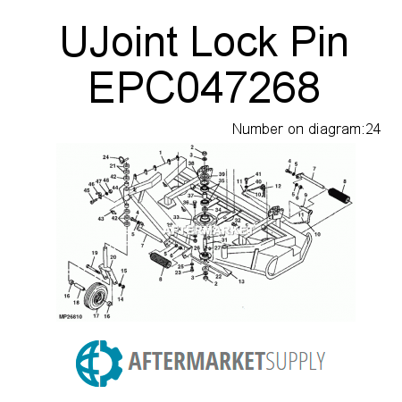 UJoint Lock Pin EPC047268
