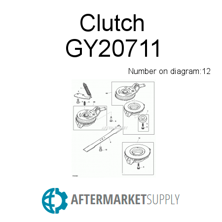Gy20711 Clutch Fits John Deere Aftermarketsupply. John Deere Clutch. John Deere. John Deere 14se Mower Clutch Diagram At Scoala.co
