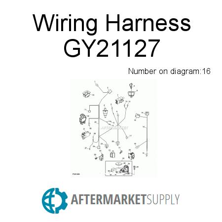 GY21127 - Wiring Harness fits John Deere | AFTERMARKET.SUPPLY on perkins wiring harness, vermeer wiring harness, exmark wiring harness, large wiring harness, john deere solenoid wiring, allis chalmers wd wiring harness, 5.0 mustang wiring harness, troy bilt wiring harness, mitsubishi wiring harness, gravely wiring harness, generac wiring harness, john deere wiring plug, john deere 410g wiring diagram, scag wiring harness, mercury wiring harness, porsche wiring harness, john deere lawn tractor wiring, john deere electrical harness, john deere stereo wiring, john deere b wiring,