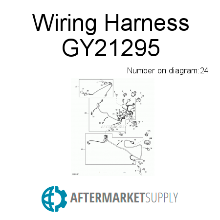 gy21295 wiring harness fits john deere aftermarket supply rh aftermarket supply John Deere L118 Wiring Harness 7220 John Deere Cab Wiring Diagram