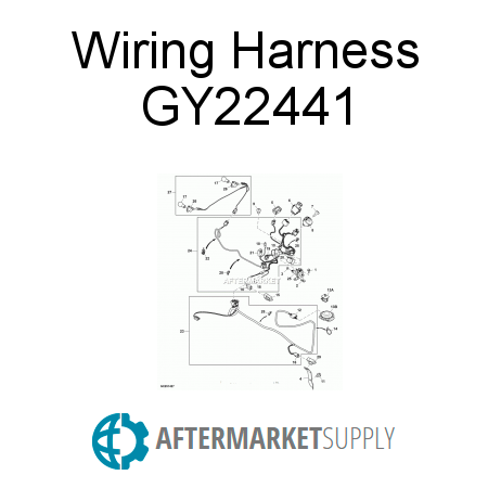 Awesome Gy22441 Wiring Harness Fits John Deere Aftermarket Supply Wiring Digital Resources Sapredefiancerspsorg