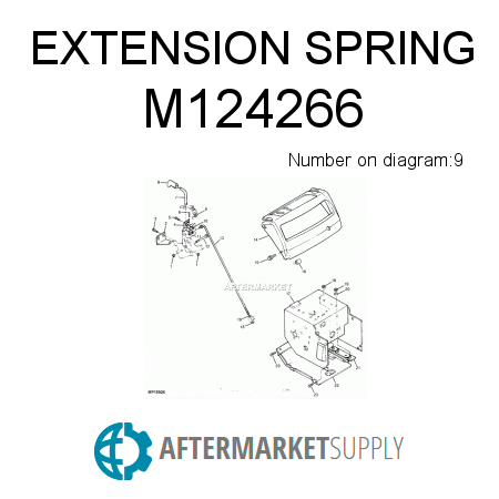 M124266 on john deere 828d snowblower parts