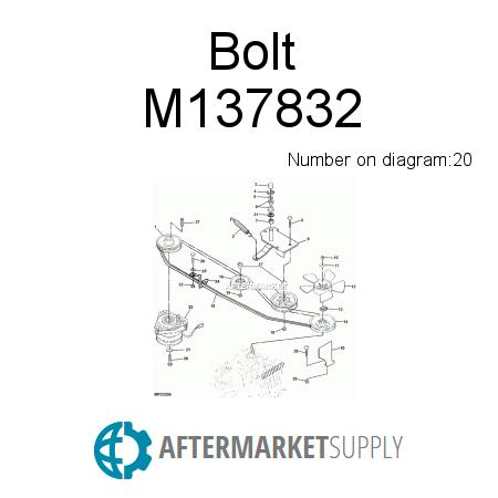 m137832.20.568x450x450 m137832 bolt fits john deere aftermarket supply