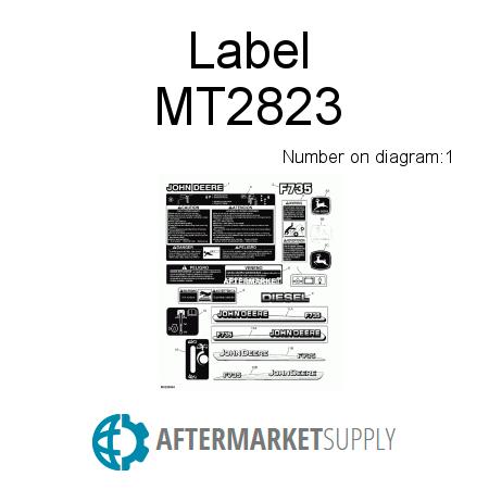 MT2823 - Label on