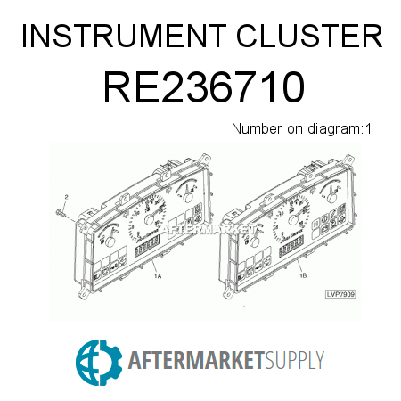 RE236710 - INSTRUMENT CLUSTER