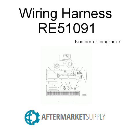 re51091 wiring harness fits john deere aftermarket supply rh aftermarket supply John Deere 4020 Wiring -Diagram Lights Fenders in For John Deere L130 Wiring-Diagram