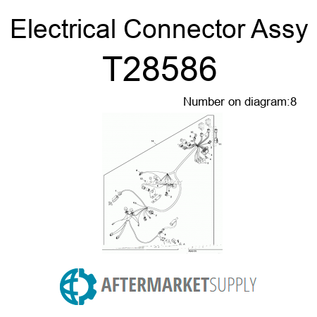 T28586 Electrical Connector Assy Fits John Deere Aftermarketsupply. John Deere Electrical Connector Assy. John Deere. John Deere Wg48a Lawn Mower Electrical Diagram At Scoala.co
