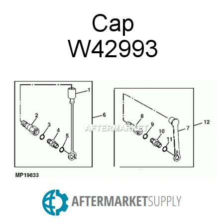 M114465 Cap Fits John Deere Aftermarket Supply